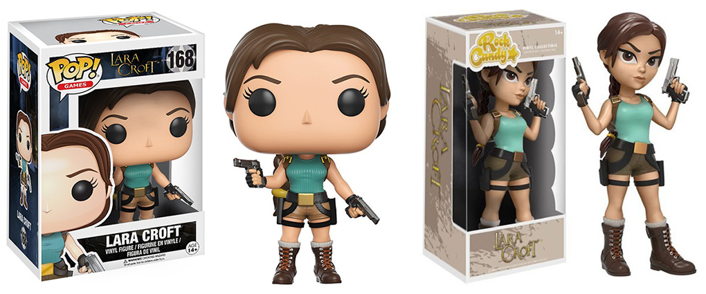 Lara Croft figures by Funko and Rock Candy available on Amazon.com